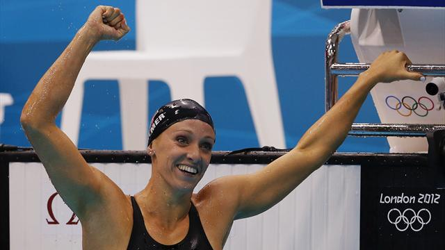 Vollmer breaks butterfly WR for Olympic gold, Gandy eighth