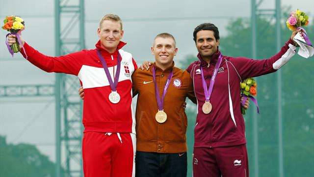 Hancock retains Olympic men's skeet gold