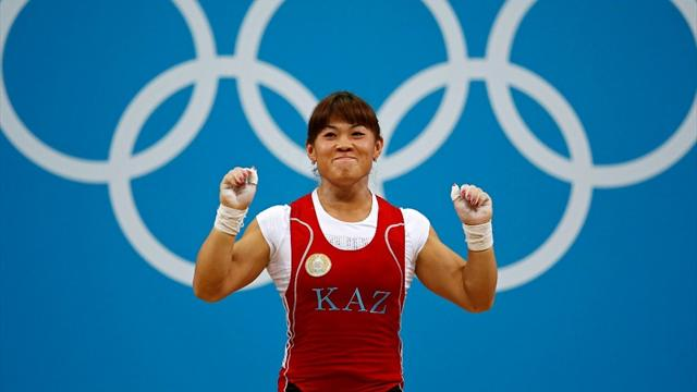 Maneza wins weightlifting gold at Olympics