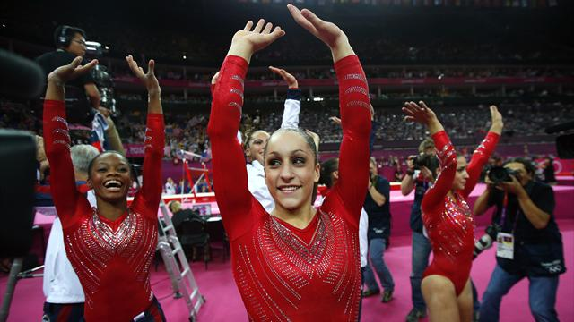 US storm to Olympic gymnastics team gold