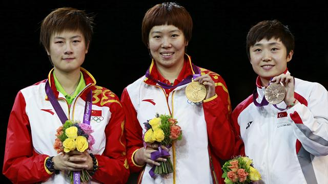 Xiaoxia shocks Ning for Olympic table tennis gold