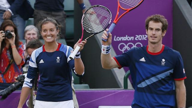 Murray and Robson through in mixed doubles