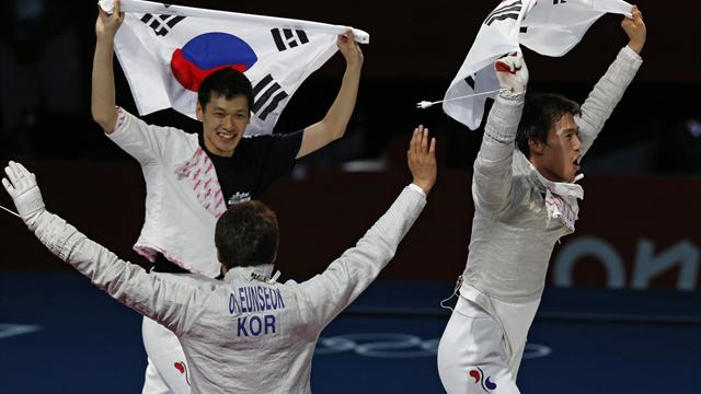 South Korea take Olympic gold in men's team sabre