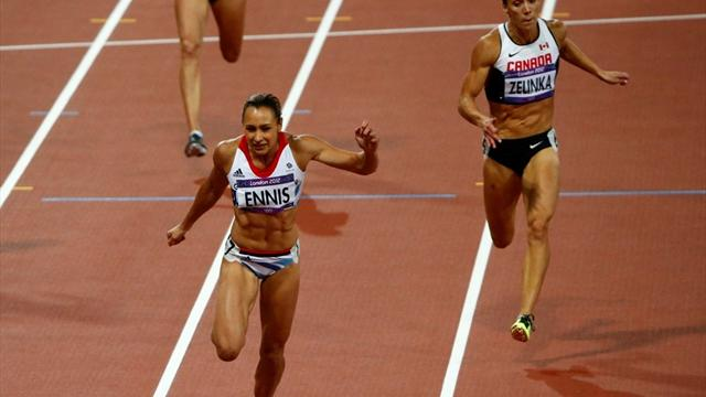 Ennis builds strong lead - Athletics - Olympic Games