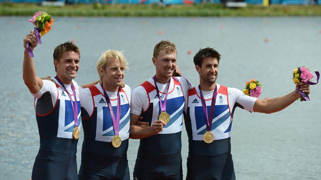 Gold for men's four and women's lightweight doubles