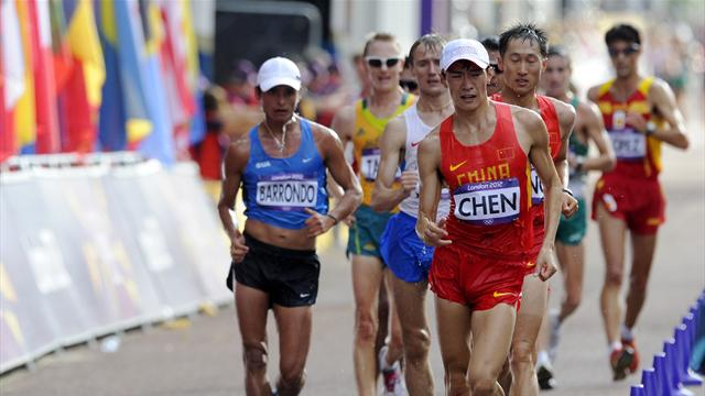 Chen wins Olympic 20km walk, history for Guatemala
