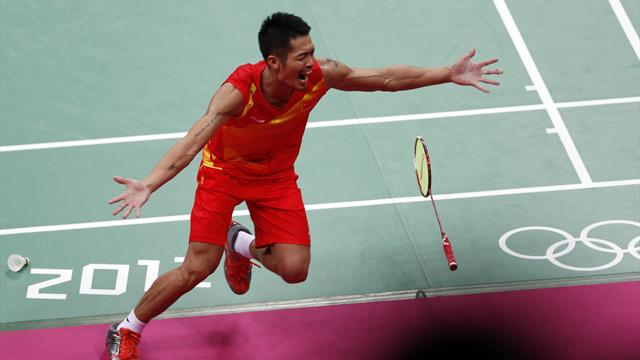 Lin defends Olympic badminton singles gold
