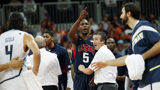 Durant leads fired-up US to Olympic basketball win