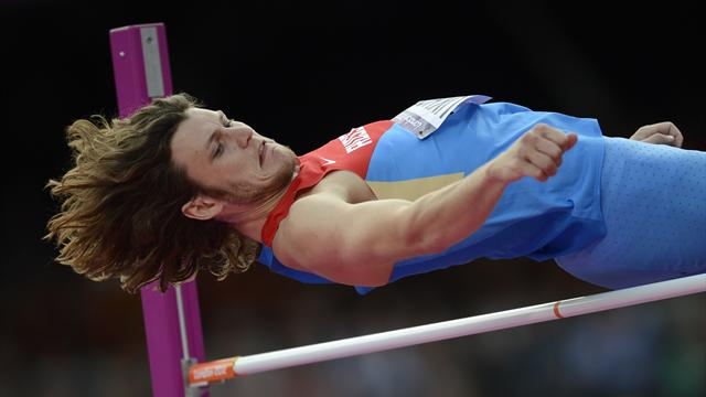 Ukhov wins Olympic high jump