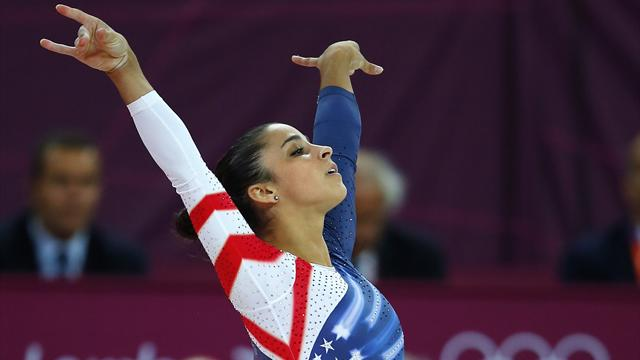 Raisman takes Olympic floor gold as Izbasa falls
