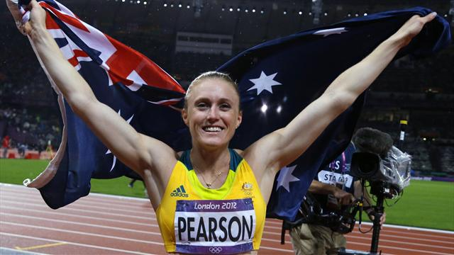 Pearson snatches Olympic hurdles gold by whisker