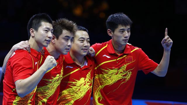 China secure Olympic table tennis clean sweep