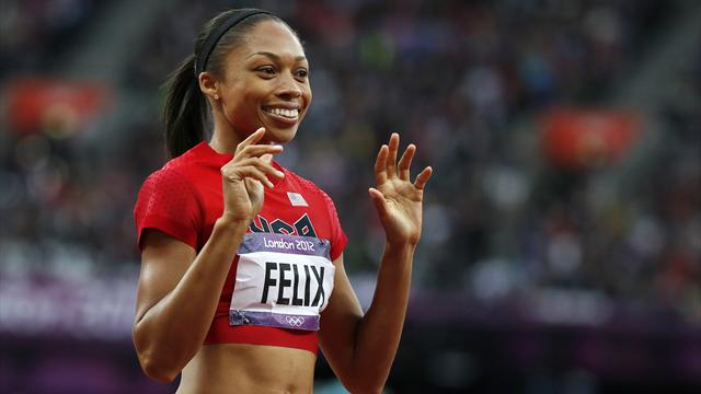 Olympic gold for Felix in 200m, Antyukh claims 400m hurdles