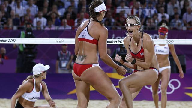 May-Treanor and Walsh win all-American Olympic beach volleyball final