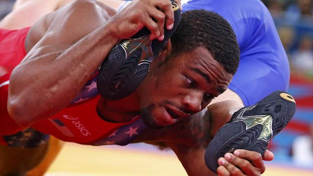 Burroughs wins first US Olympic wrestling gold of Games
