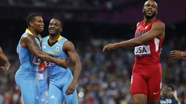 Bahamas stun USA for 4x400m relay Olympic gold