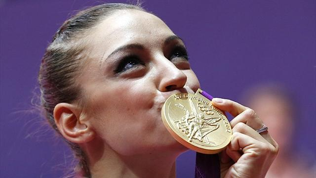 Kanaeva wins rhythmic gymnastics Olympic gold