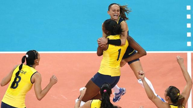 Brazil beat USA for volleyball gold
