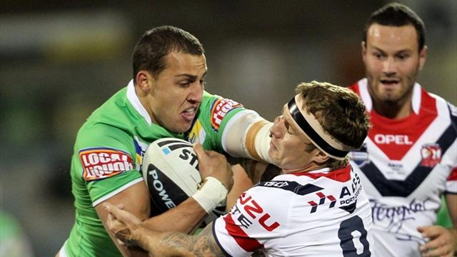 Raiders hold off Roosters - Rugby League