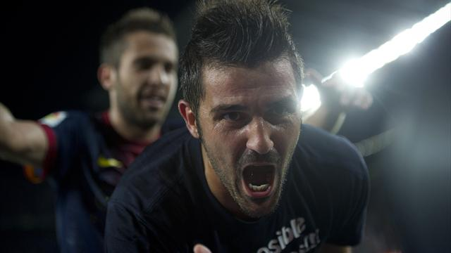 Villa scores on return  - Football - Spanish Liga