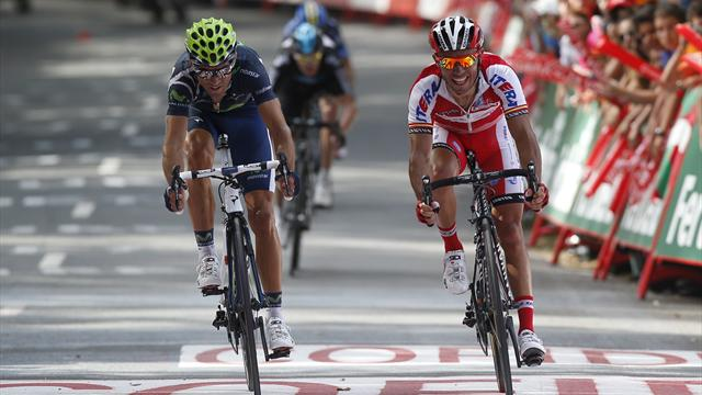 Valverde takes Vuelta stage win and red jersey