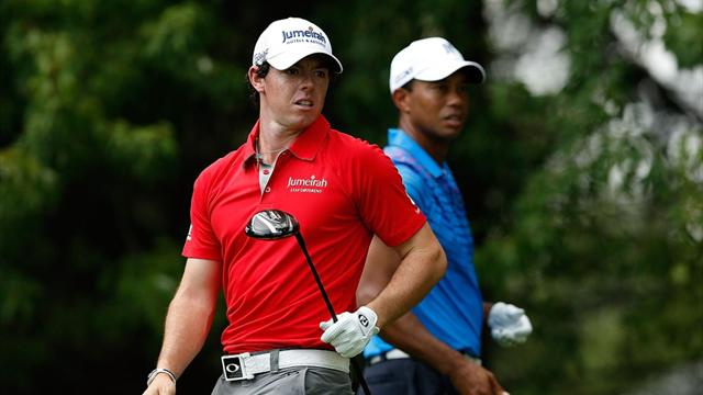 Tiger vann rond 1 mot Rory - Golf