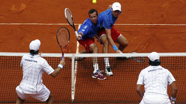 Czechs win doubles  - Tennis - Davis Cup
