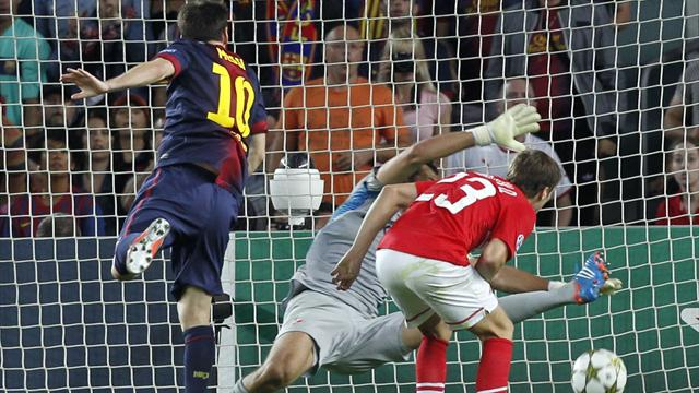 Messi rescues Barcelona against Spartak