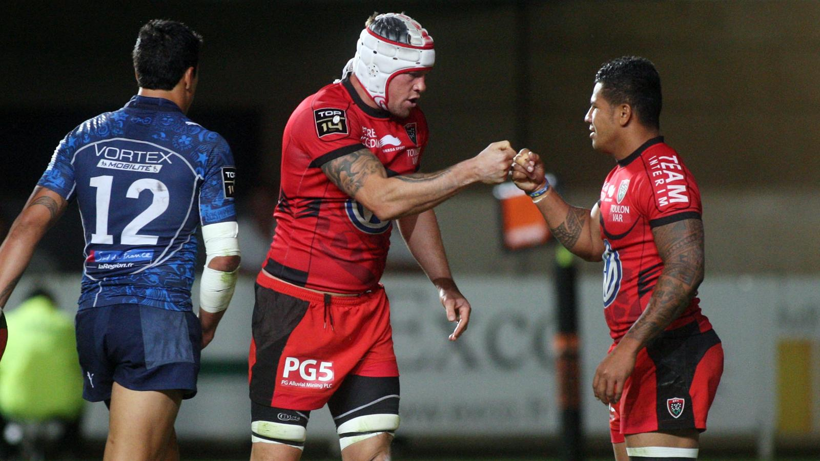 Joe Van Niekerk - Toulon Montpellier - 14 septembre 2012