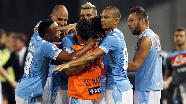 Cavani fires Napoli to win as Klose owns up to handball