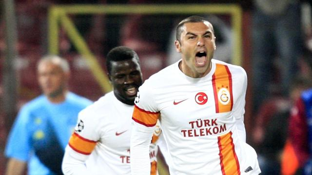 Burak hat-trick inspires Galatasaray victory - Football - Champions League