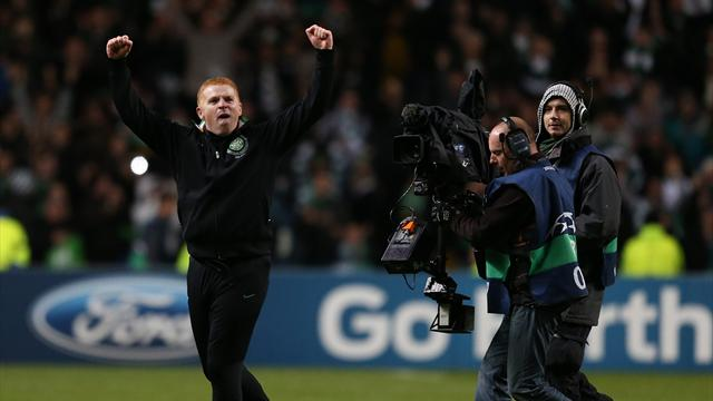 Lennon salutes Celtic 'heroes' after beating Barcelona