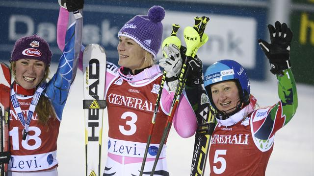 Hoefl-Riesch overcomes hip injury to win Levi slalom - Alpine Skiing