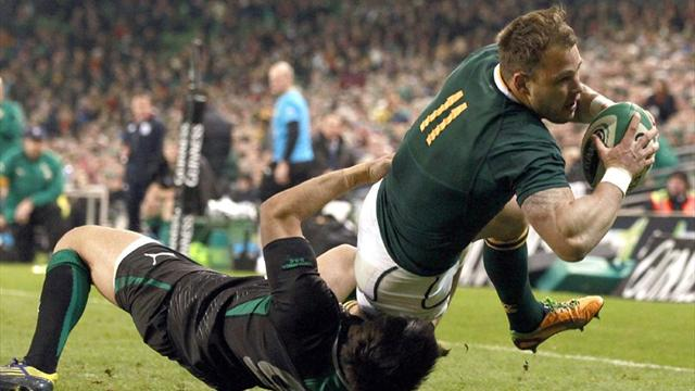 South Africa edge out Ireland - Rugby