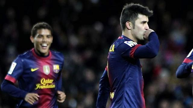 Villa passes 300 goals as Barca progress in Copa - Football - Liga
