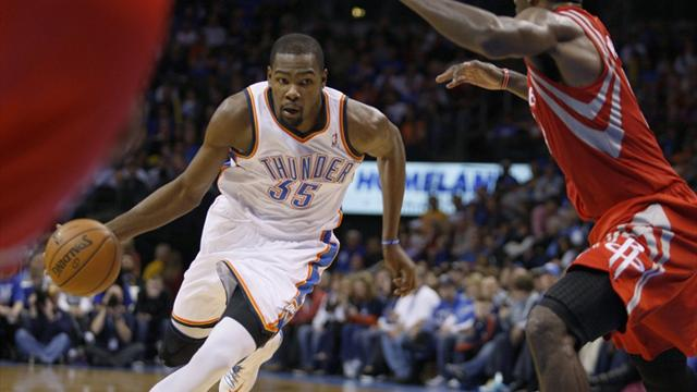 Durant nets 37 as Thunder blast Rockets
