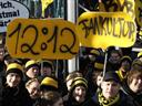 German fans call off silent security protests