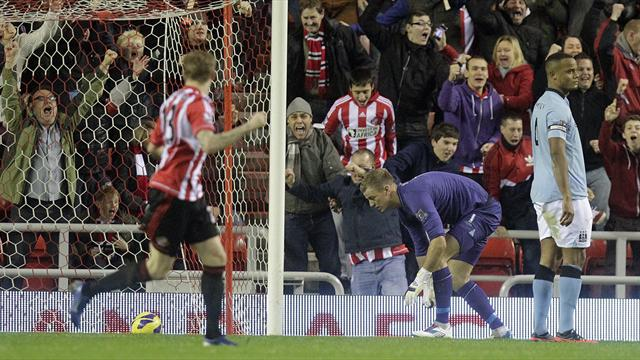 Hart howler as Manchester City lose at Sunderland - Football - Premier League