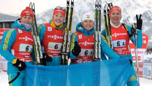 Ukraine's women romp to win in Oberhof