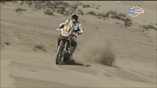 Bikes: Casteu halves Pain's lead after stage five - Rally Raid - Dakar