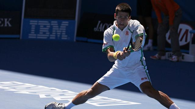 Djokovic breezes through as Monaco exits in first round