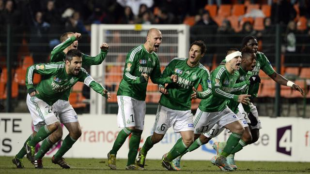 Saint-Etienne arrache sa finale - Football - Coupe de la Ligue