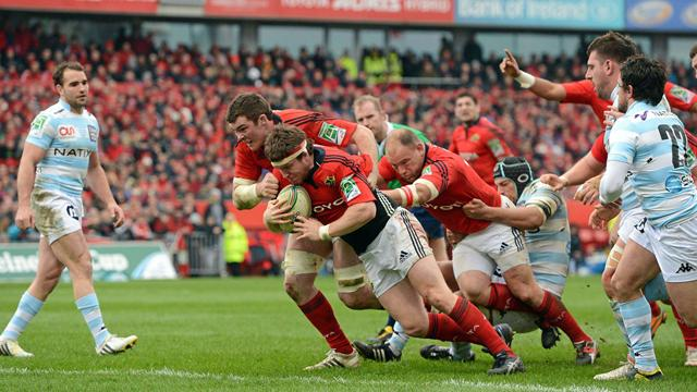 Le Racing a vu rouge au Munster - Rugby - Coupe d'Europe