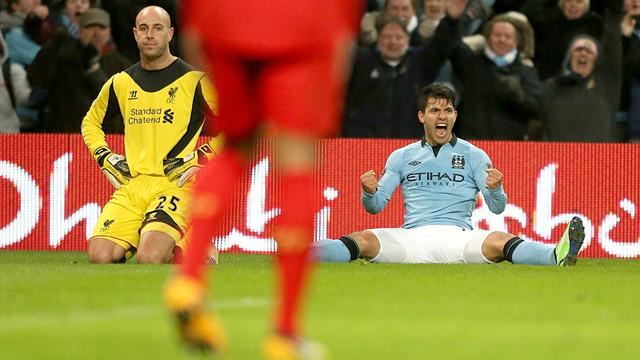 Aguero genius earns Man City draw with Liverpool
