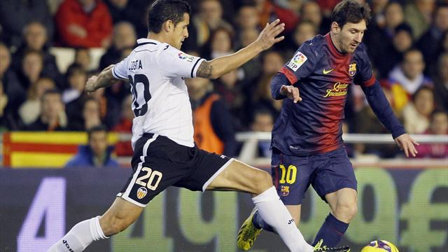 Valencia hold Barcelona despite Messi goal - Football - Spanish Liga
