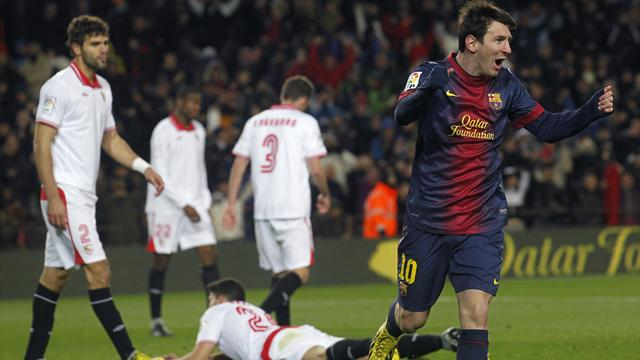 Messi scores again as Barca fight back to beat Sevilla