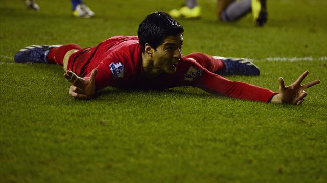 Suarez bags three in rout of Wigan - Football - Premier League