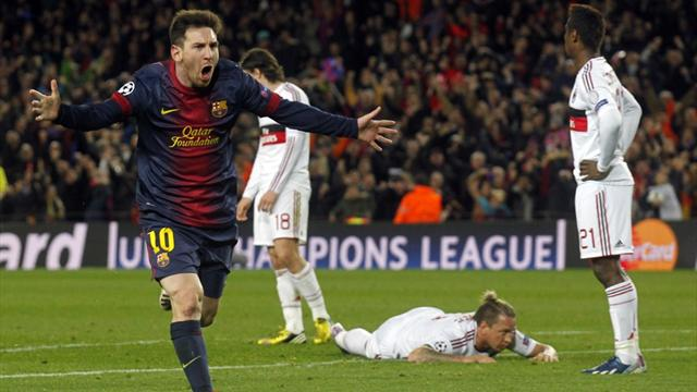 Messi guides brilliant Barcelona past Milan
