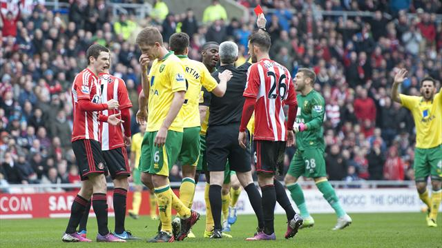 Handball controversy as Norwich hold Sunderland - Football - Premier League