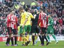 Handball controversy as Norwich hold Sunderland